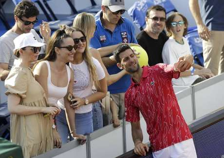 Djokovic durante etapa do Adria Tour em Belgrado, Sérvia