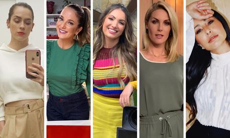 Famosas com blusa para home office (Fotos: Reprodução/Instagram)