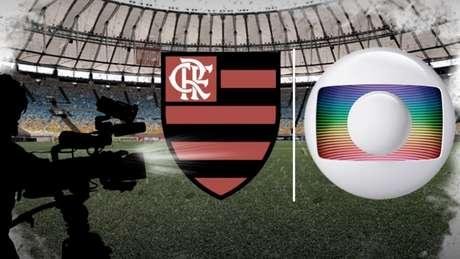 Globo e Flamengo seguem brigando por direitos de transmissão dos jogos (Foto: Arte/Lance!)