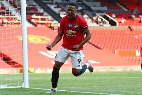 Martial foi o grande nome do jogo (Foto: MICHAEL STEELE / POOL / AFP)