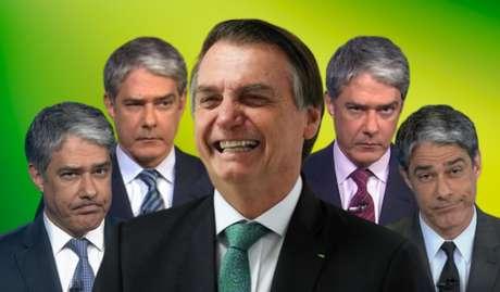 Bolsonaro tem 5% de vantagem em relação a Bonner no levantamento sobre credibilidade