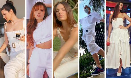 Famosas vestem branco total (Fotos: Instagram/Reprodução)