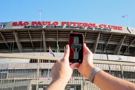 Vista do estádio do Morumbi, em São Paulo