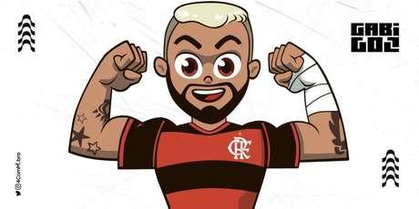 """Em um clipe de """"Flamiguinhos"""", canal infantil do Flamengo, o atacante Gabigol se tornou o """"Gabigolzinho"""" (Foto: Divulgação/4ComM)"""