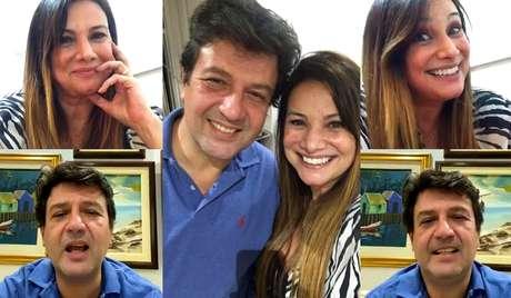 Mandetta e Mandetta: ex-ministro participou de transmissão bem-humorada no Instagram de apresentadora
