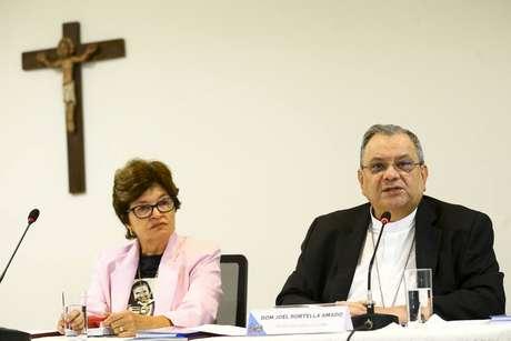 O secretário-geral da CNBB, bispo d. Joel Portella Amado