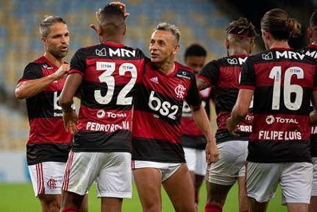 Pedro Rocha foi o autor do último gol do Flamengo, o 39ª da equipe na temporada (Foto: Alexandre Vidal / CRF)