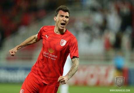 Marcante na Juventus e na última Copa do Mundo, pela Croácia, Mandzukic está no Al Duhail (Divulgação/Al Duhail)