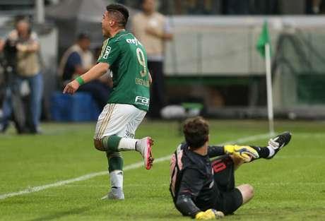 Há exatos cinco anos, Cristaldo fechava a goleada por 4 a 0 sobre o time de Ceni (Cesar Greco/Agência Palmeiras)