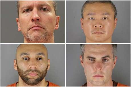 Ex-policiais de Mineápolis indiciados em caso George Floyd Departamento Correcional de Minnesota e Gabinete do Xerife do Condado de Hennepin/Divulgação via REUTERS