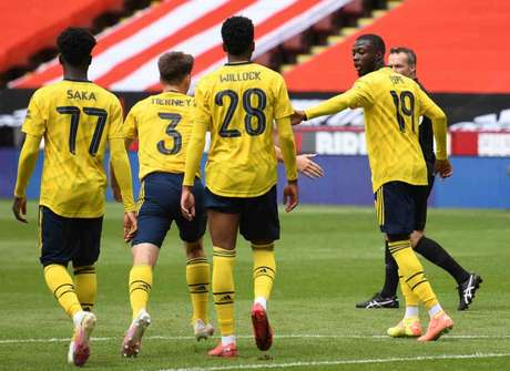 Arsenal venceu Sheffield United fora de casa pela Copa da Inglaterra (Foto: OLI SCARFF / AFP)