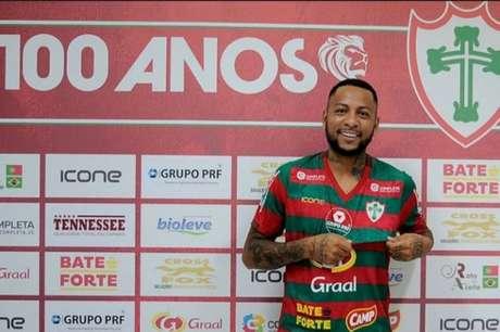 Atacante Luan Viana retorna para sua segunda passagem pela Portuguesa (Foto:Divulgação/Portuguesa)