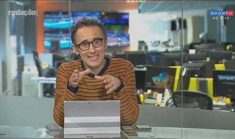 O Redação SporTV voltou ao estúdio (Reprodução/ SporTV)