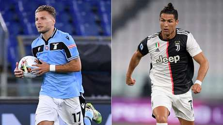 Immobile e Cristiano Ronaldo são os artilheiros do Italiano (Foto: Alberto PIZZOLI / AFP; Miguel MEDINA / AFP)