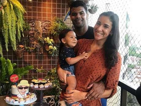 Joanna e o ex-judoca Luciano Corrêa são pais de Caetano (Reprodução/Twitter)