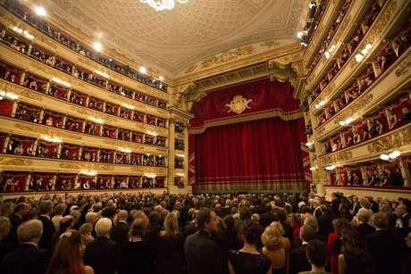 Interior do Teatro alla Scala, em Milão