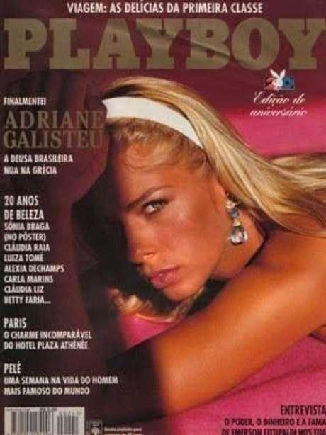 Adriane Galisteu na primeira Playboy (Reprodução)