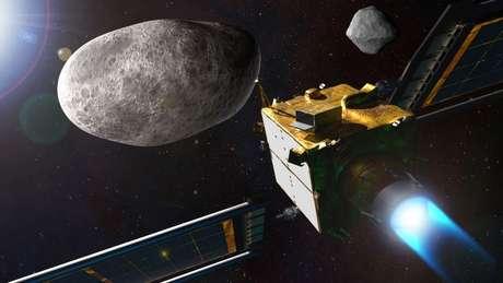 A nave DART tem a missão de se chocar contra o asteroide Dimorphos