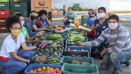 Uma cooperativa de comunidades quilombolas conseguiu reunir 10 toneladas de alimentos para doar a famílias pobres