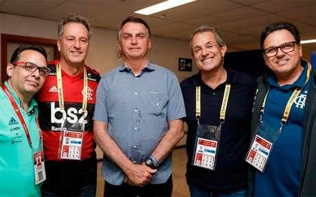 Reunião com Jair Bolsonaro, em fevereiro: Fla processou o Governo (Foto: Divulgação / Presidência da República)