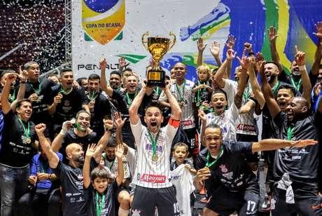 A equipe do Corinthians de futsal é uma das potências no esporte nacional (Foto: Agência Corinthians)