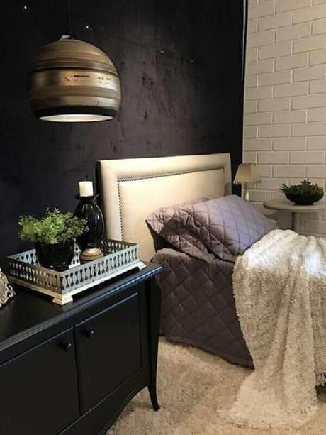 3. Para maior conforto no seu quarto invista na cabeceira solteiro estofada – Foto: Pinterest