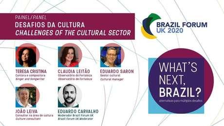 Painel desta quarta-feira do 'Brazil Forum UK' debaterá desafios da cultura