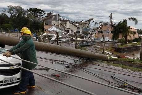 Ciclone bomba causou mortes em Santa Catarina