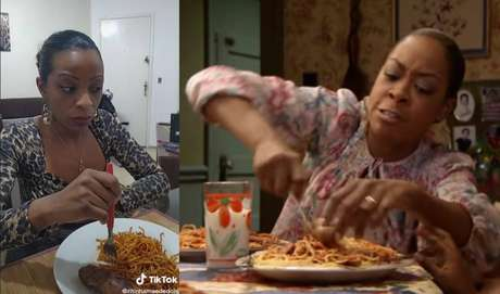 Rita de Cássia Aparecida e sua famíkia gravam vídeos imitando cenas de 'Todo Mundo Odeia o Chris'