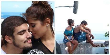 Camilla Camargo e Caio Castro em Travessia, filme que exigiu forte carga dramática da atriz