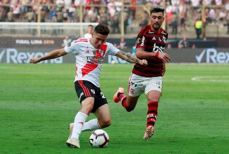Lance da final da Copa Libertadores de 2019, disputada por Flamengo e River Plate. 23/11/2019. REUTERS/Henry Romero.