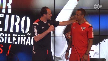 Rogério Ceni e Luis Fabiano em 2015, ano em que ambos saíram do São Paulo - FOTO: Reprodução