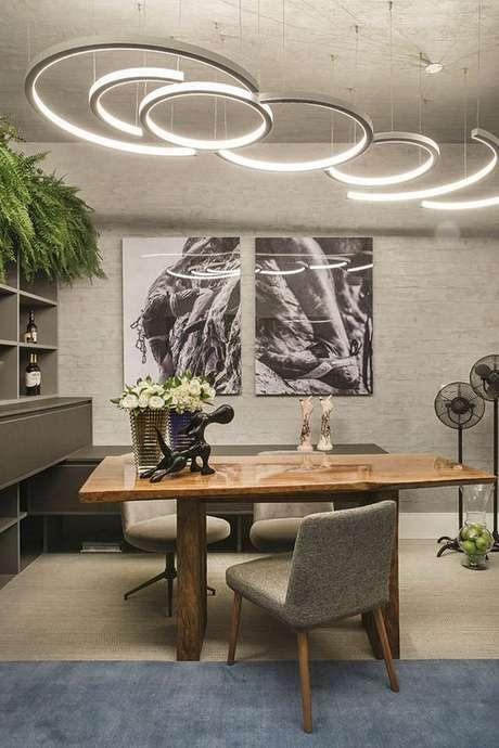 1. Luminárias de led decorativas na casa moderna – Via: Casa Cor
