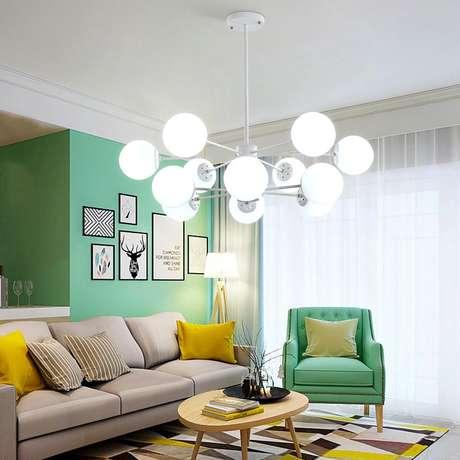 3. Luminárias de led decorativas para sala – Via: Pinterest