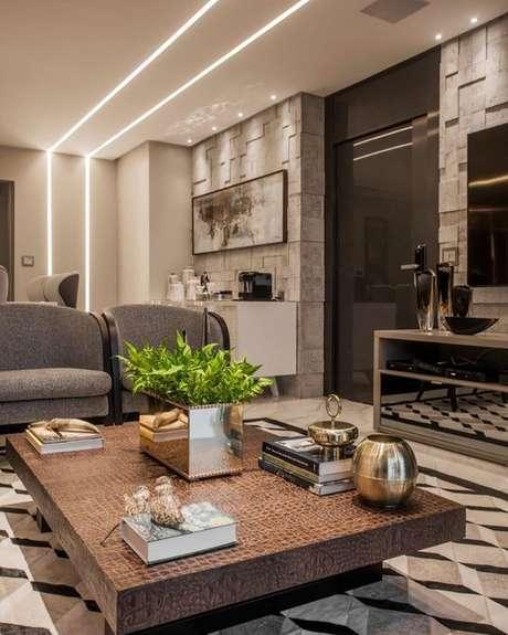 2. Luminárias de led embutida na sala de estar – Via: Verena Brasil