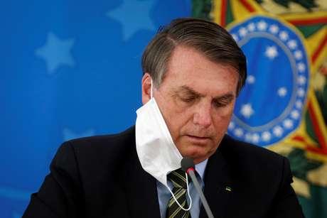 Presidente Jair Bolsonaro durante entrevista coletiva em Brasília 18/03/2020 REUTERS/Adriano Machado