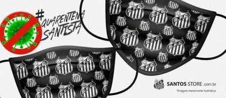 Peixe usará parte de valor da venda de máscaras para ajudar a combater a doença (Foto:Divulgação/Santos FC)