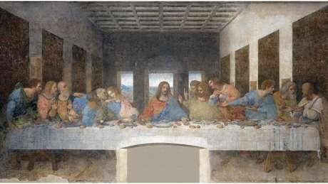 Pintura de Da Vinci mostra a cena da Última Ceia conforme narrada no Evangelho de João