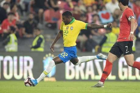 Emerson disputou um jogo pela Seleção Brasileira (Foto: Divulgação/ Lucas Figueiredo)