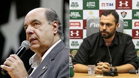 Nelson Mufarrej e Mário Bittencourt Foto: Vítor Silva/Botafogo; Lucas Merçon/Fluminense
