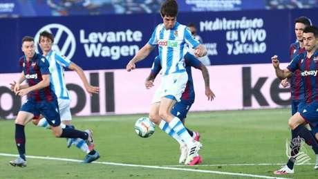 Real Sociedad e Levante empataram em 1 a 1 (Foto: Divulgação/Real Sociedad)