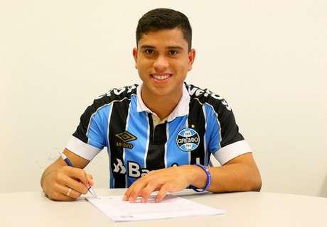 Kevin atuou no Grêmio no começo do ano (Foto: Divulgação/Grêmio)