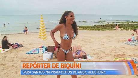 Sara Santos, de 33 anos, exala bom humor e sensualidade sempre que surge na TV