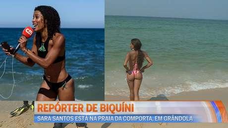 A Repórter de Biquíni virou musa do verão português com seu figurino descontraído