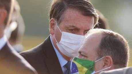 Bolsonaro em foto de junho; o presidente anunciou que fez novos exames para covid-19