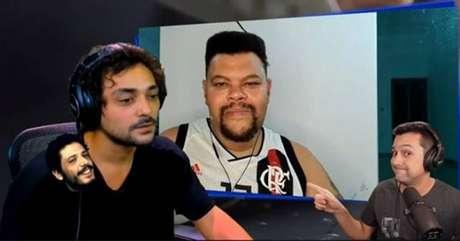 Eduardo Sterblitch e Babu Santana fizeram live que contou com momento inesperado (Reprodução)
