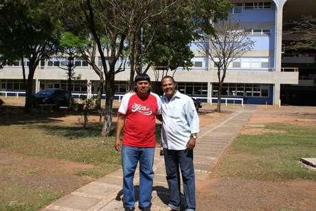 Cacique Domingos Maroho (à esquerda) e o assessor de Estudos e Pesquisas da Presidência da Funai, Cláudio Badaró