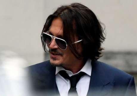 Johnny Depp comparece a tribunal em Londres para julgamento 07/07/2020 REUTERS/Toby Melville