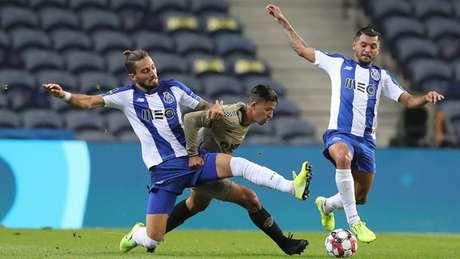 Porto (em ação contra o Boavista) pode sagrar-se campeão nesta rodada (Divulgação Twitter Porto)