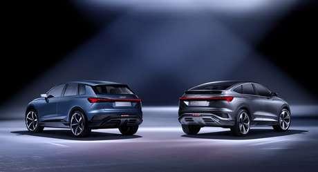 Na traseira está a grande diferença entre os dois modelos Q4 E-tron.